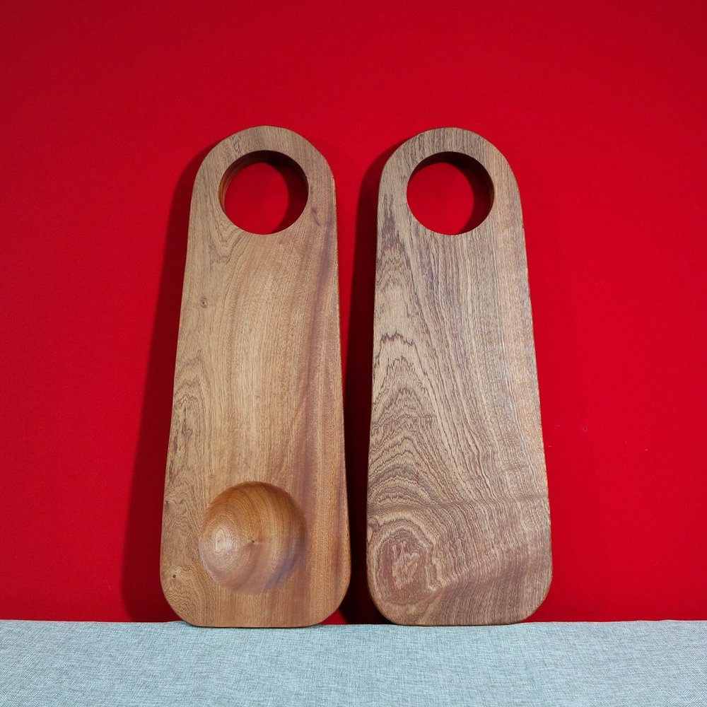 The Sapele and Ash wood serving boards