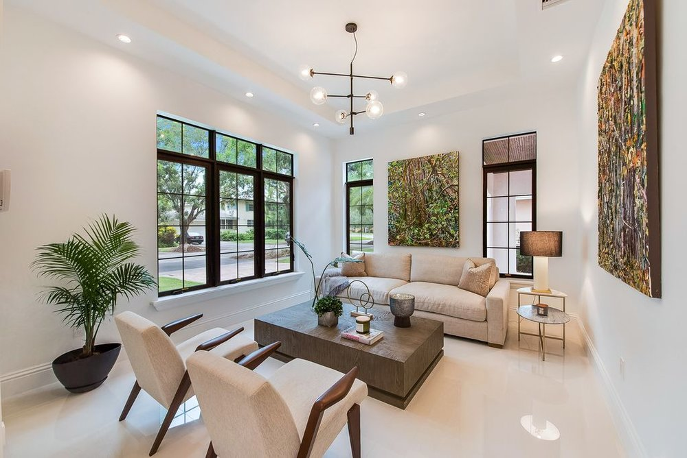 Coral Gables Estate - Vacant Home Full Staging