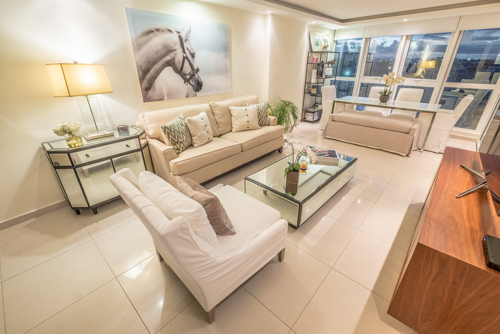 Modern High-Rise Staging - Full Staging Service