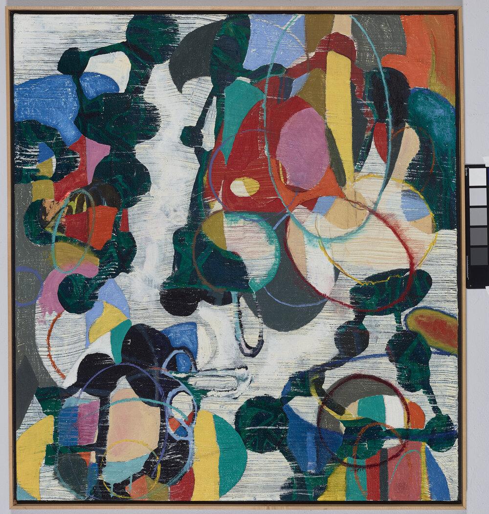 "Spit-Spot   oil on canvas, 44 x 40"""