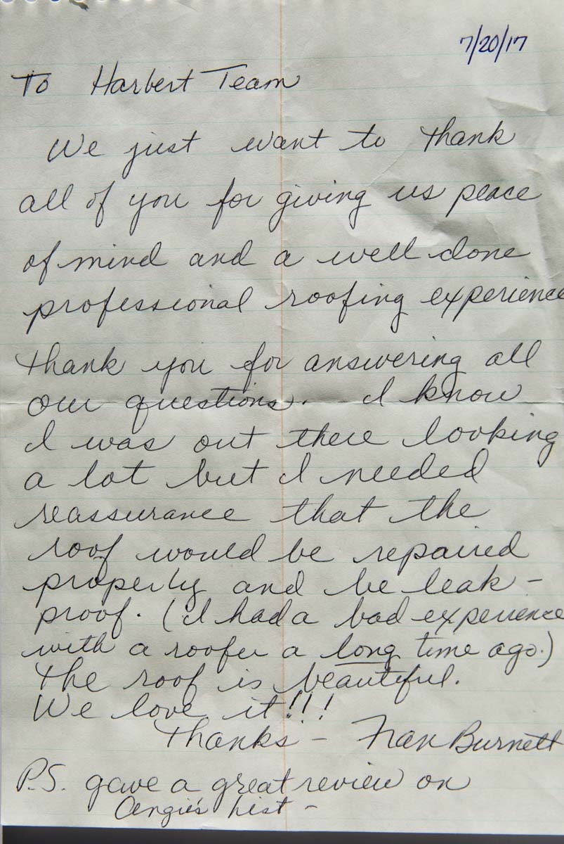 Fran Burnett Written Letter