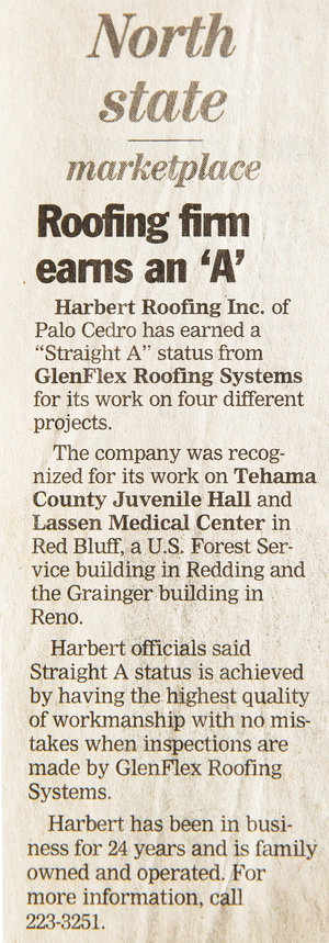 Roofing News Stories - Harbert Roofing