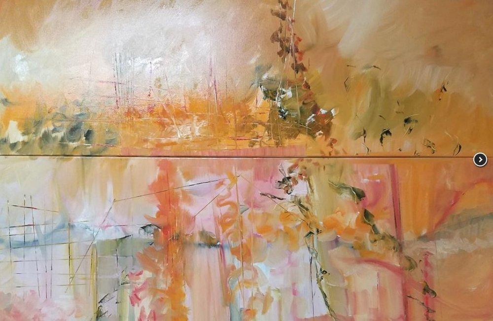 """Summer's Garden, oil on linen, 40 X 60"""""""