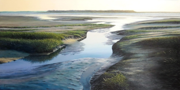 """""""The Sound Of Silence"""" 24x48 oil on canvas"""