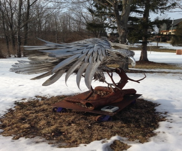 "Seaman  ""Raven""  shaped and welded stainless steel"
