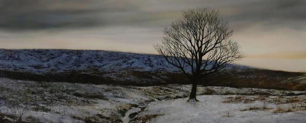 "O'Neill  ""Winter Glow""  24x60 inches, oil on canvas"