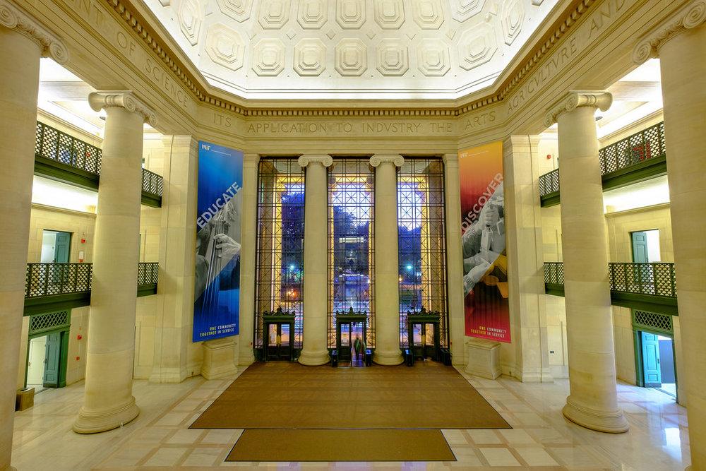 MIT Lobby 7, Gateway to MIT Department of Urban Studies and Planning