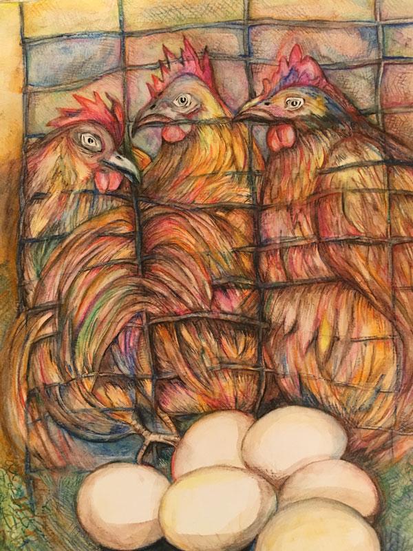 Myungja Anna Koh-Cage Free Eggs