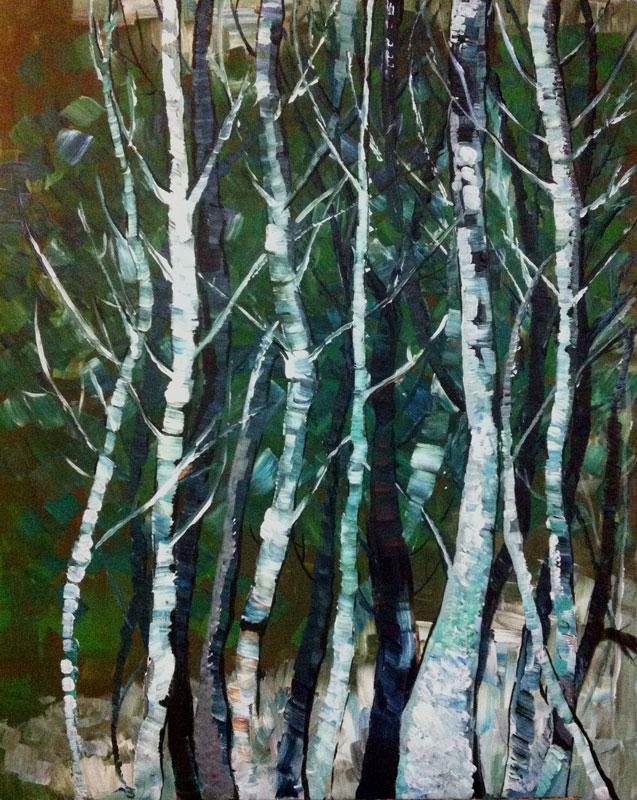Myungja Anna Koh - Winter Trees