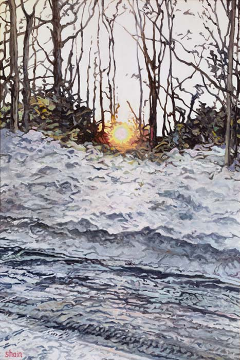 Shain Bard - Sun Setting Over an Icy Road