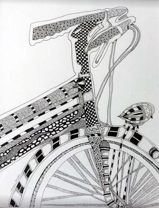 Summer Freedom-Pen and Ink Zentangle