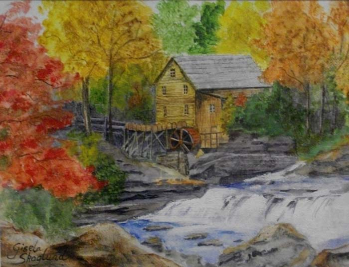 Glades Creek Mill, WV - Watercolor