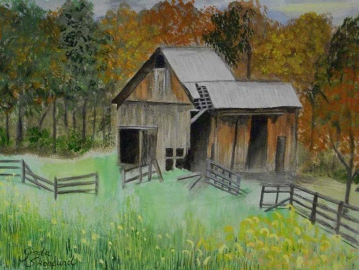 Old Barn, Caleb Smith Park - Watercolor