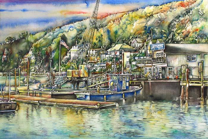 Jaycox Jr, David - Historic Northport Harbor Hillside