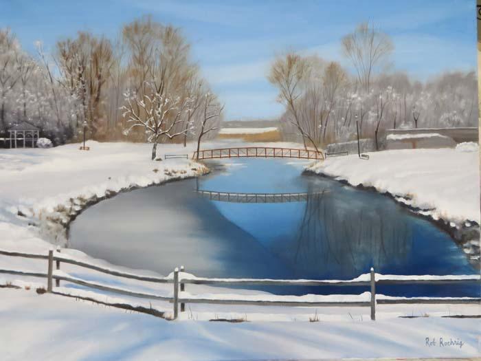 Setauket Snow - Oil - 18X24