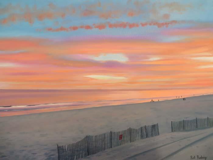 South Shore Sunset - Oil - 18X24