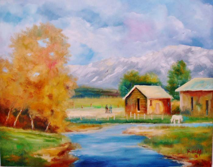 River on the Farm - Oil - 22 x 28.jpg