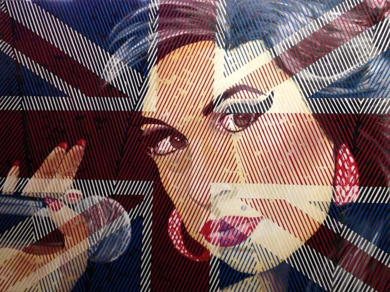 """Time to say goodbye - Amy Winehouse – Oil on Canvas 30"""" x 40"""", by Don Weber (2).jpg"""
