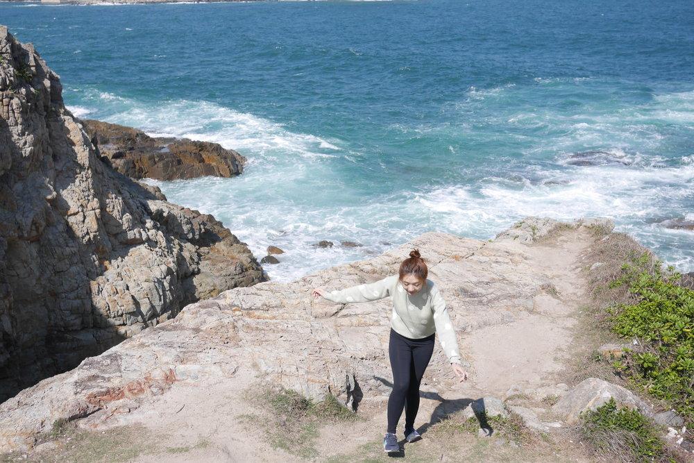 小心陡峭的石崖!