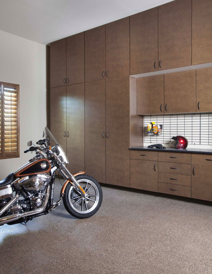 Garage TriState Custom Closets - Traxtile flooring