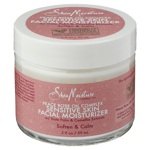 Shea Moisture Peace Rose Oil Complex Sensitive Skin Facial Moisturizer