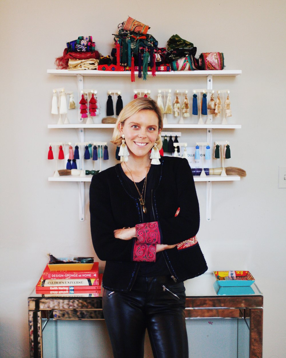 Hart in her design studio in Charleston.