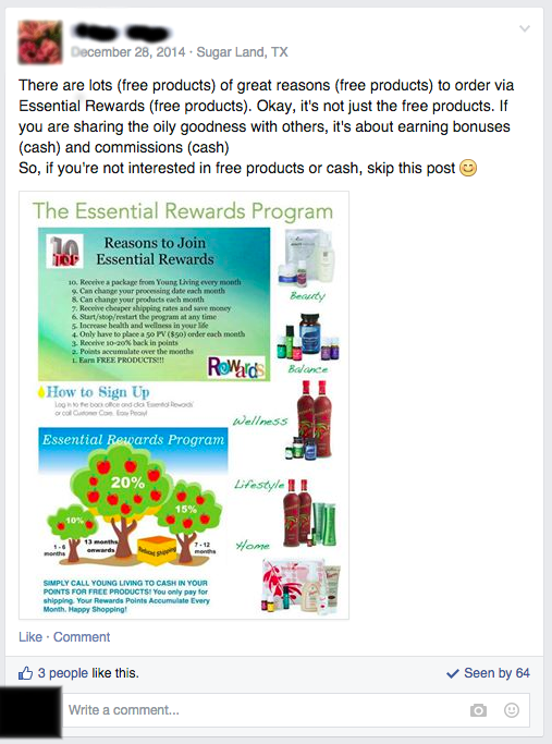 Free products and cash