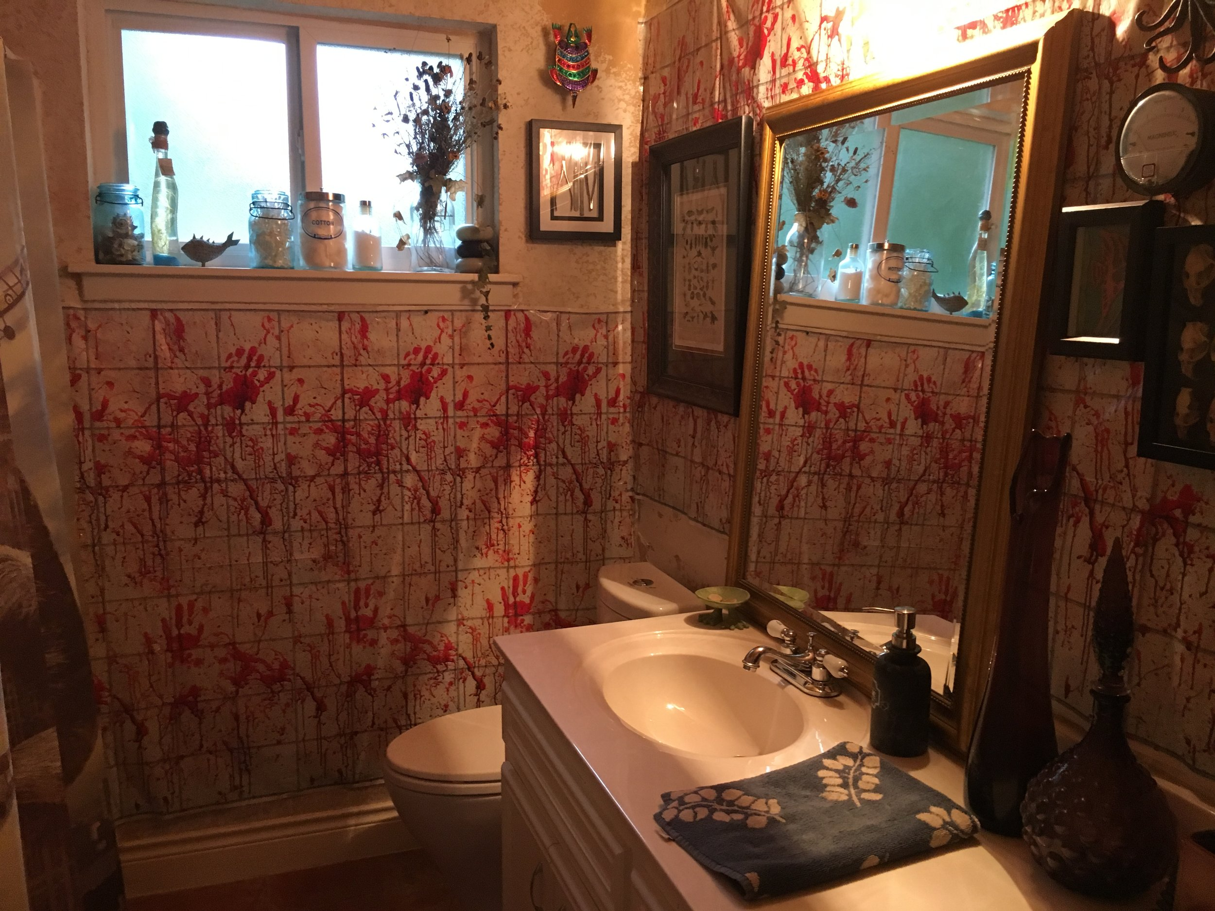 Blood bathroom