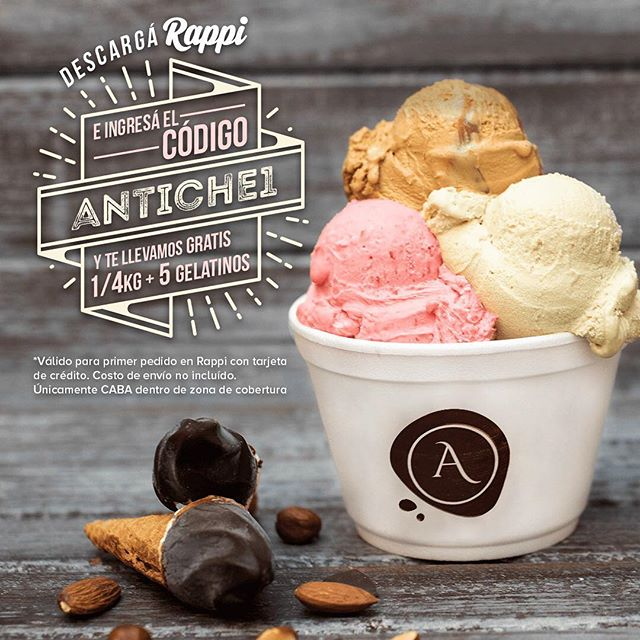 Promoción  Limitada... 100 DISPONIBLES!! www.antiche-tentazioni.com Dirección: Honduras 4770 | Palermo Soho - Bs As CABA (Argentina) | Tel: 011 4832-2318  #antiche #AnticheTentazioni #gelato #gelateria #GelatoItaliano #icecreamshop  #rappi