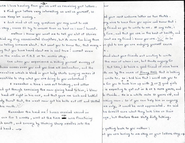 Ottis Toole signed letter envelope drawing set — True Crime