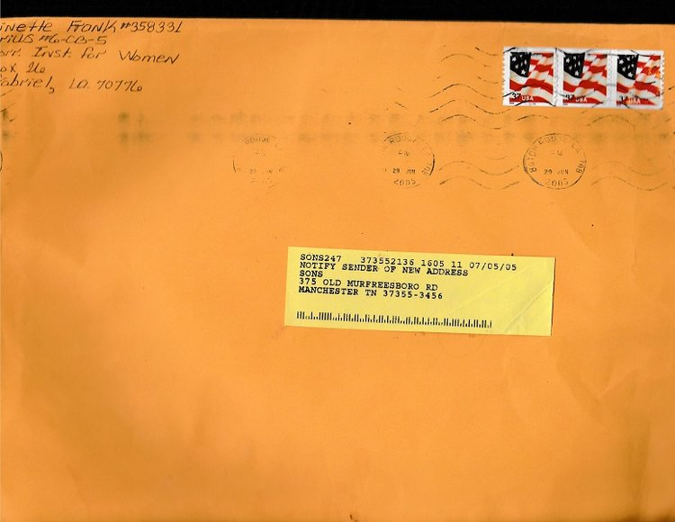 antoinette frank prison owned magazine with mailing envelope true