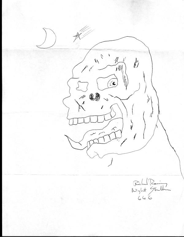 Richard Ramirez nightstalker signed drawing — True Crime Auction House