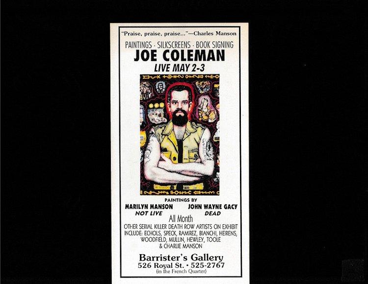 Joe Coleman Original Art Show Pamphlet True Crime Auction House