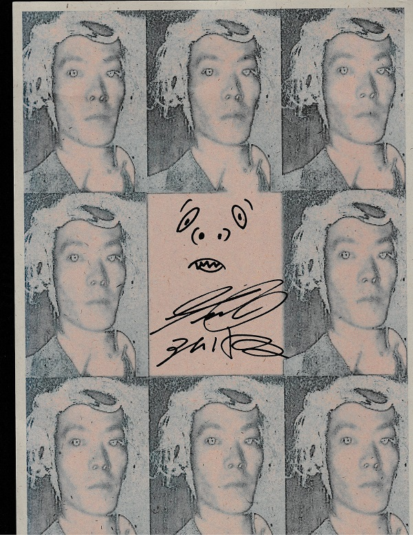 Issei Sagawa signed artwork print — True Crime Auction House