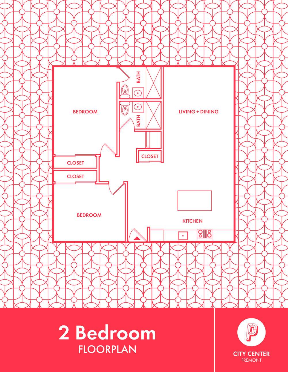 City Center 2 Bedroom Floorplan