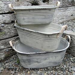 Rustic Tin Tubs