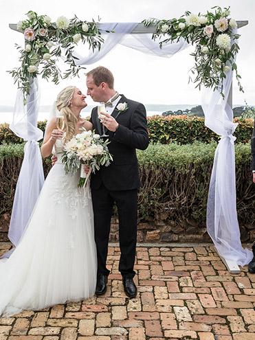 auckland wedding hire pop up ceremony set diy complete mudbrick