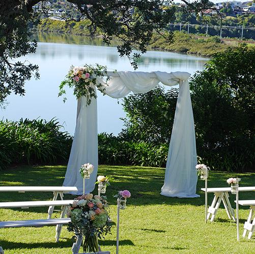 auckland wedding hire pop up ceremony set diy complete water