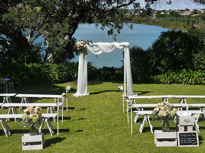 auckland wedding hire pop up ceremony set diy complete easy