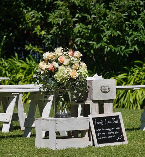 auckland wedding hire pop up ceremony set diy complete flowers
