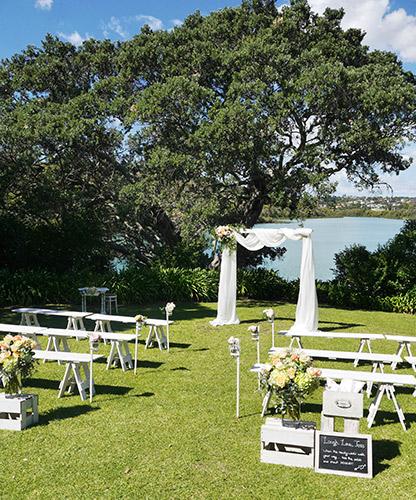 auckland wedding hire pop up ceremony set diy complete new zealand