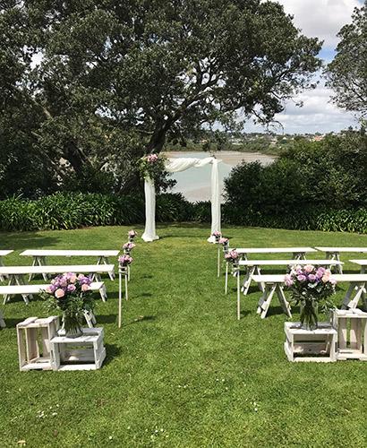 auckland wedding hire pop up ceremony set diy complete