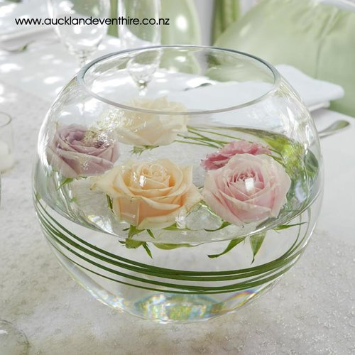 Fishbowl Glass Vases Auckland Event Hire