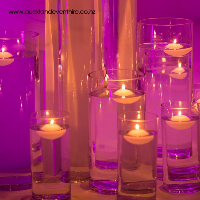 Cylinder Glass Vases Auckland Event Hire