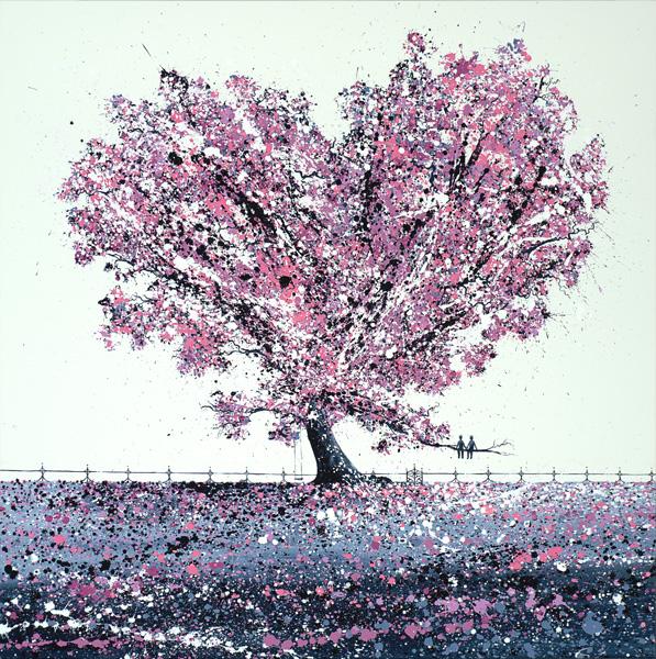 Cherry Blossom Under the Tree