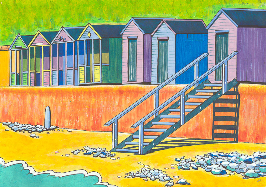 'Beach Huts in Summer' (Southwold)