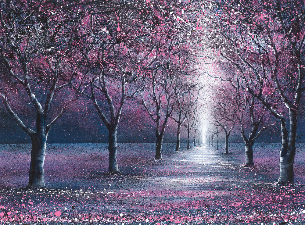 'Beautiful Blossom' | Acrylic on Deep Boxed Canvas  70 X 100cm | £1,295  Limited Edition Prints Available