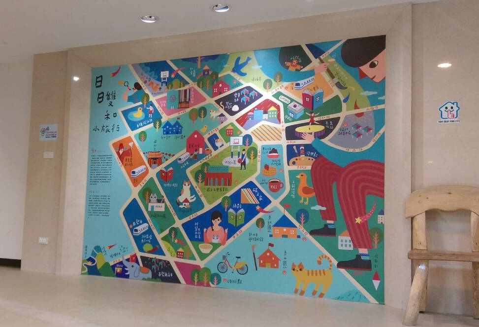 2樓一進門會有一個以插畫形式呈現的雙和地圖.jpg