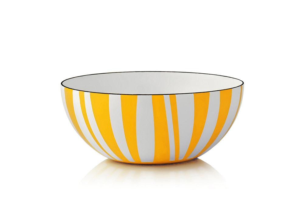 20 cm - Stripes kolleksjonGul
