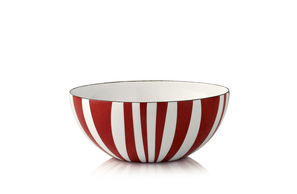 18 cm - Stripes kolleksjonRød